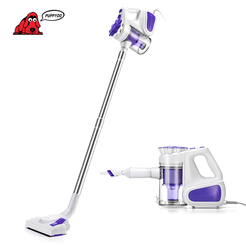 цена PUPPYOO Low Noise Portable Household Vacuum Cleaner Handheld Dust Collector and Aspirator WP526-C
