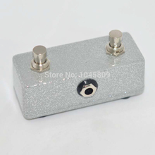 Guitar Moment Foot Switch DUAL 2 CHANNEL Flash silver footswitch for fuitar AMPLIFIER