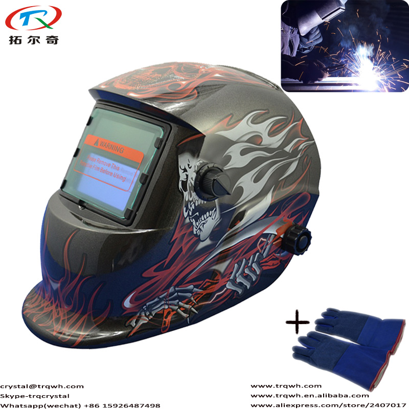 Welding & Soldering Supplies Fast Shipping Tig Solar Powered Welding Helmet Automatic Darkening Shade Din 9-13 Adjustable With Welding Glove Trq-hd09-2233de