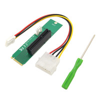 Hot-sale PCI-E 4X Female To NGFF M.2 M Key Male Adapter Power Cable Converter Card Gifts