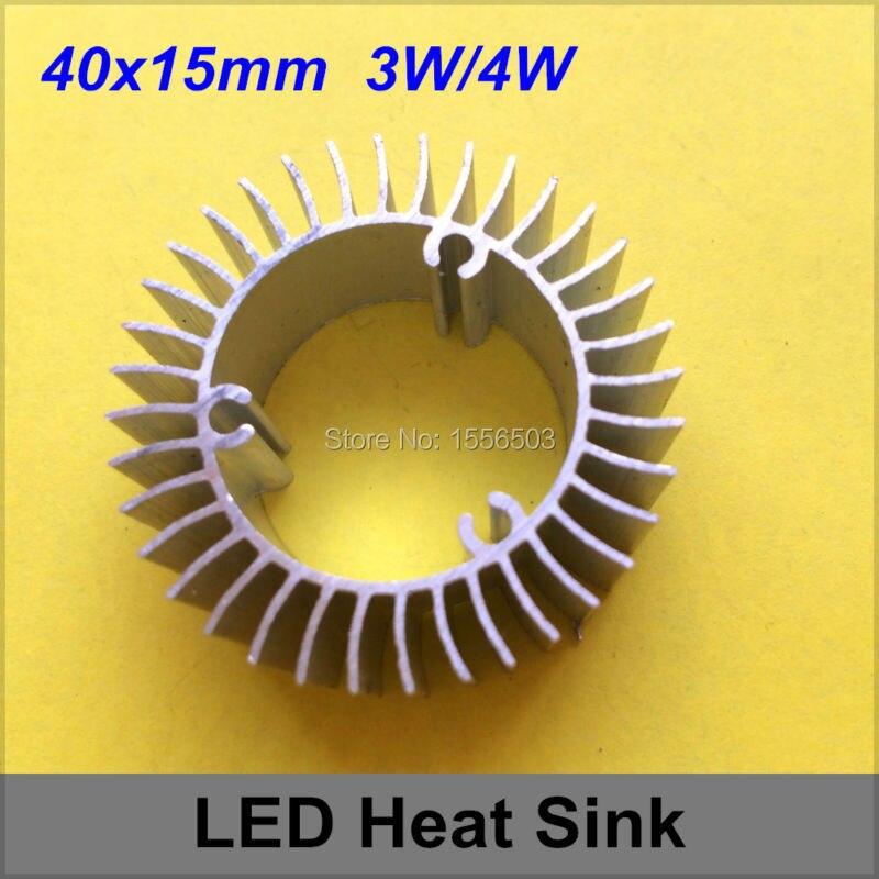 50 PCS LED Aluminum Radiator Heat Sink PCB Base Cooler 3W 4W High Power Round DIY LED Lamp Heat Cooling Aluminum 40*15mm