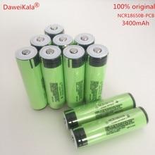 Mah com Original 10 Pcs Nova Bateria Ncr18650b Protegido 18650 3400 Novo Pcb Lanterna
