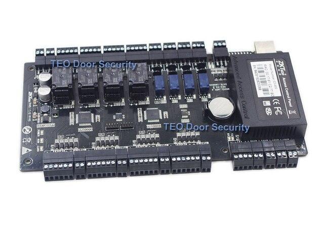 Kontrola dostępu do drzwi na bazie IP Panel TCP IP i RS485 zk c3 400 wbudowany pomocniczy kontroler wejścia i wyjścia z czterema drzwiami