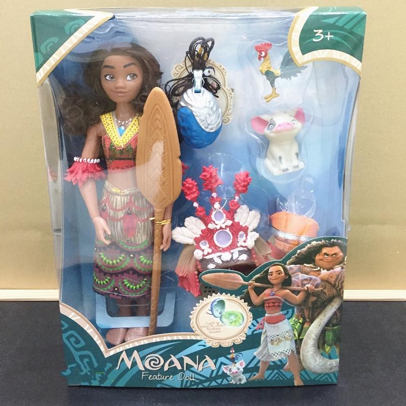 Vaiana Moana film Vaiana Moana princesse Maui chef Tui Tala Heihei Pua figurine de décoration jouets pour enfants cadeau d'anniversaire