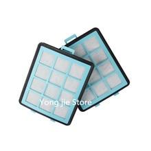 4 * pièces de rechange pour aspirateurs 2 * filtre à vide hepa + 2 * coton pour philips filtre hepa FC8764 FC8766 FC8761 FC8760 FC8767
