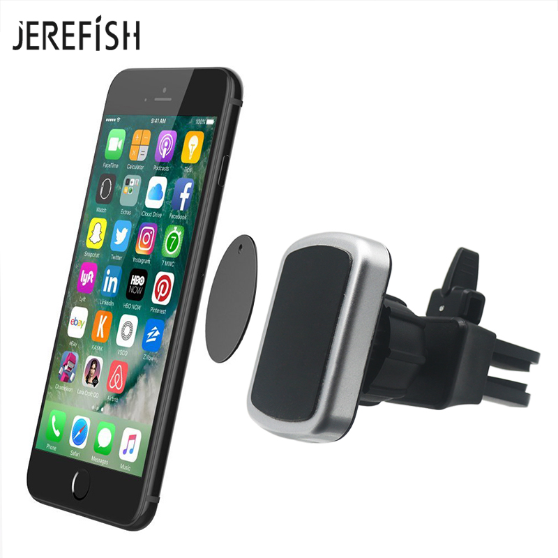 Magnetic Phone Car Mount With Quick Release Button Universal Bite-Lock Air Vent Mount Magnetic Car Phone Holder For Cell Phones