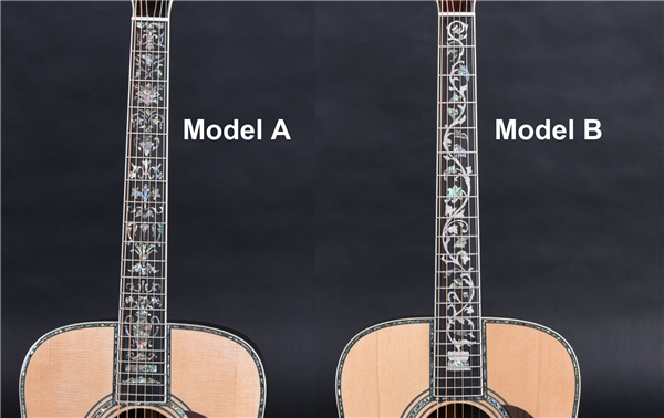 customized 41 Inch solid wood acoustic guitars, Guitarra acustica,ebony fingerboard(China)