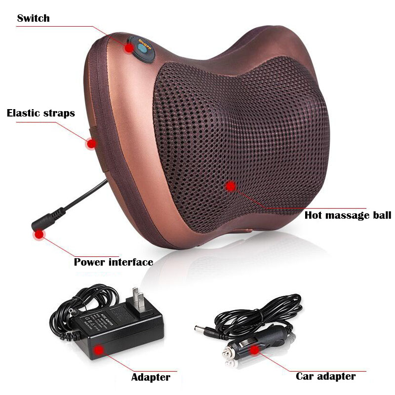 New waist massage home car dual-use multi-function electric cervical lumbar car pillow massager new design healthcare multifunction massager pillow automobiles relax cervical vertebrae leg home dual use infrared heating