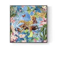 The100 % расписанную мечта гепарда красивый цветок живопись маслом на холсте настенное искусство фотографии для жилая комната Home Decor