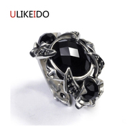 100 Pure 925 Sterling Silver Jewelry Gem Stone Rings Wide Version Men Signet Ring For Women