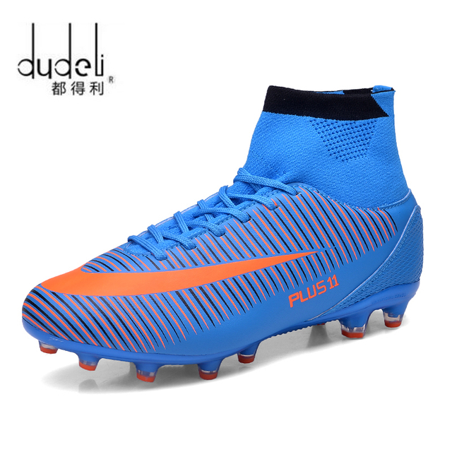 518c9946e DUDELI Men Soccer Shoes Indoor Futsal Shoes With Socks Professional Trainer  TF Football Boot high ankle Zapatillas Futbol Sala