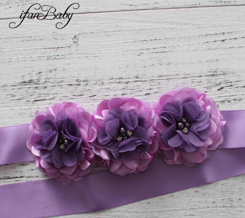 Модные туфли со стразами узор атласной ткани цветок пояса ленты для девочки пояс - Цвет: 02