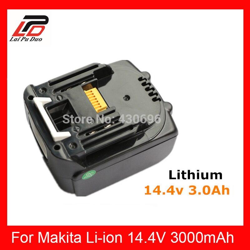 Batterie au Lithium de rechange d'outils électriques 14.4 v 3000 mah pour MAKITA BL1430, BDF440RFE/BTD130FW/BDF440/BHP440/BTD130/LXT200/BTP130