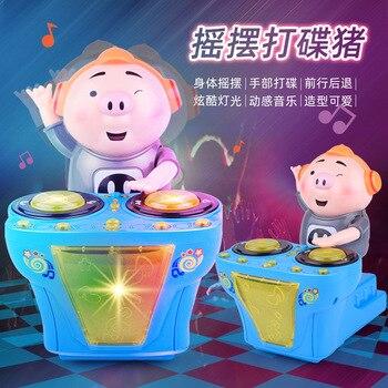 New Pig DJ bar music dance seaweed song electric toy car cartoon glow music dance electric toy pig азиатская кухня