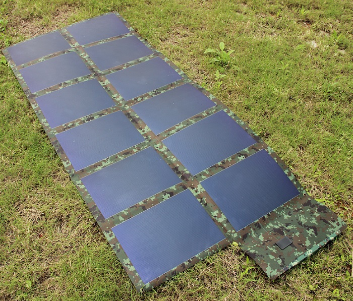 72W 18V Fodable Solar charger Amorphous Silicon Solar Panel For 12V Battery Charger Hin Film Solar Bag Waterproof High Quality