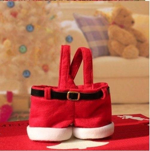 free shipping Christmas Santa Candy Gift Bag,Christmas decorations 50pcs
