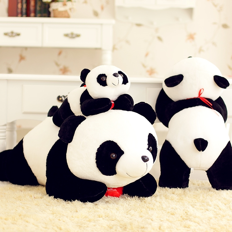 stuffed animal lovely lying panda about 60cm heart  i love you  prone panda plush toy soft doll gift s8004 50cm lovely super cute stuffed kid animal soft plush panda gift present doll toy