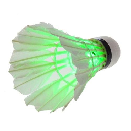 Оптовая продажа 10*5 шт. красивый зеленый Темная ночь светодиод Бадминтон Воланы птички Освещение Новый