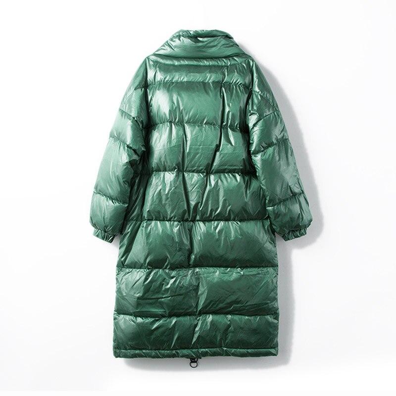 Fitaylor nowa kurtka zimowa kobiety płaszcz puchowy kobiet gruba biała kaczka dół kurtki damskie długie płaszcze ciepłe ubrania w Płaszcze puchowe od Odzież damska na  Grupa 3