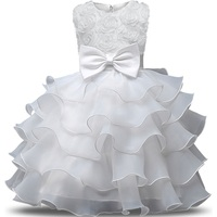 Baby Girl Christening Gowns Newborn Bebes 1 Year Birthday Dress Fuffly Baby Frocks Designs Infant Princess