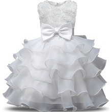 Baby Girl Christening Gowns Newborn Bebes 1 Year Birthday Dress Fuffly Baby Frocks Designs Infant Princess Party Costume 0-2Yrs