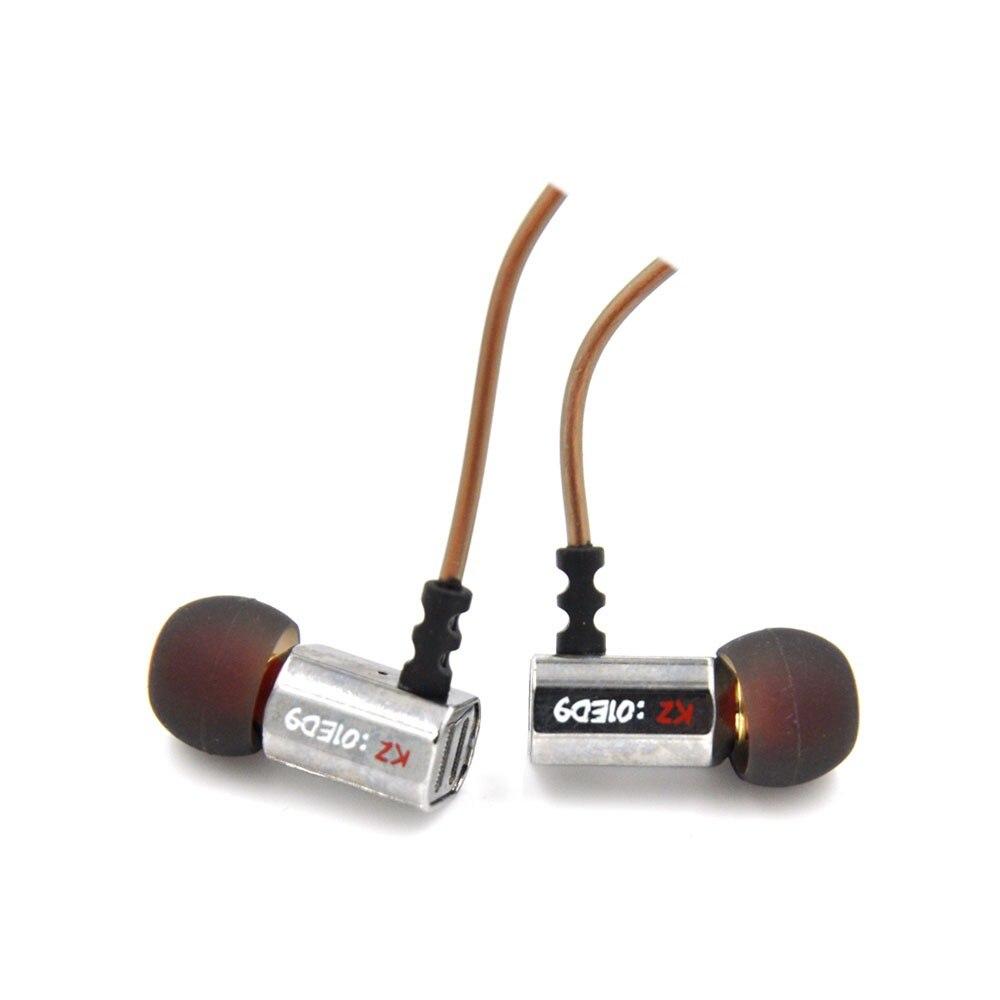New KZ ED9 3.5mm in ear Earphones Heavy Bass HIFI DJ Stereo Earplug noise isolating KZ Headset High End Earphone