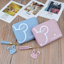 Tassel Women Wallet Small Cute Wallet Women Short Pu Leather Women Wallets Zipper Purses Female Purse Clutch Card Holder Carteir leftside designer pu leather women cute short money wallets with zipper female small wallet lady coin purse card wallet purses