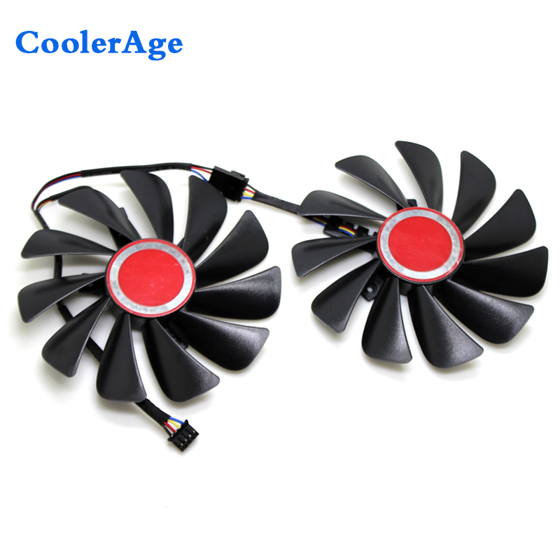 CoolerAge 95MM FD9015U12S 4Pin DC 12V Cooling Fan Replacement For XFX Graphics Video Card Cooler Fan-in Fans & Cooling from Computer & Office    1
