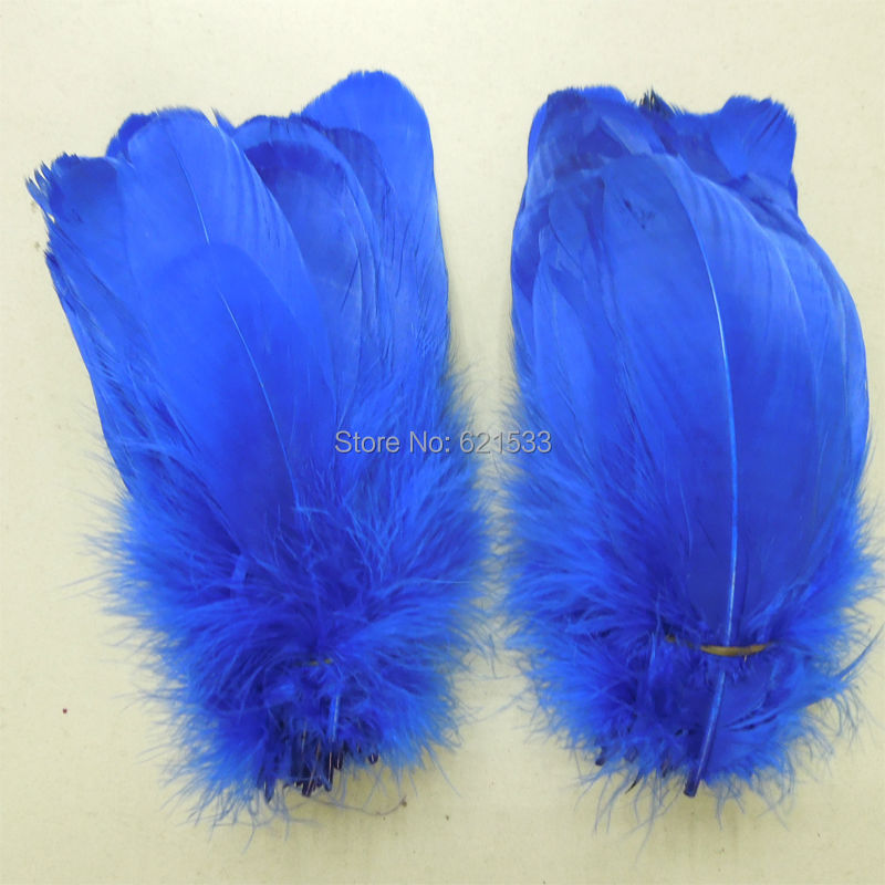 200pcs/lot!12-20cm long Royal Blue Loose Goose Nagoire Feathers Perfect for crafts,costume design,headbands,hair fascinators