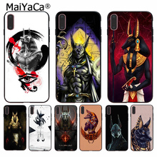 MaiYaCa Anubis  Popular Unique Design Phone Cover for Apple iPhone 8 7 6 6S Plus X XS MAX 5 5S SE XR Cellphones case maiyaca mr and mrs couple bff popular unique design phone cover for iphone 8 7 6 6s plus 5 5s se xr x xs max coque shell