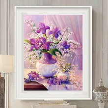 5D Diamond Painting Flowers parlor Plants Vase Series Full Square Cross Stitch DIY  Embroidery Home Decor