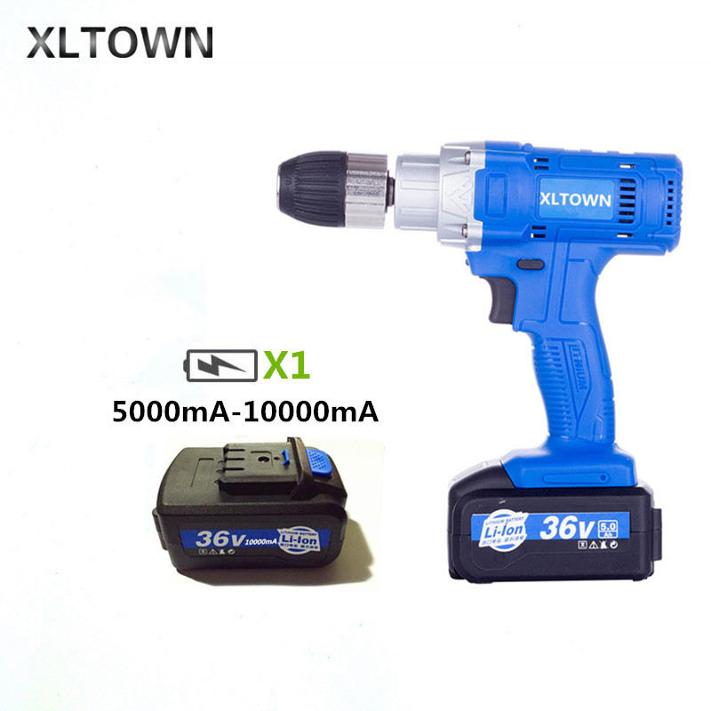 Xltown 21v high-speed rechargeable lithium electric  drill multi-function High Power electric screwdriver power toolsXltown 21v high-speed rechargeable lithium electric  drill multi-function High Power electric screwdriver power tools