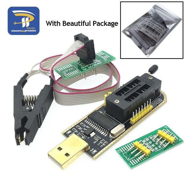 SOIC8 SOP8 Test Clip For EEPROM 93CXX / 25CXX / 24CXX adapter + CH341A 24 25 Series EEPROM Flash BIOS USB Programmer Module