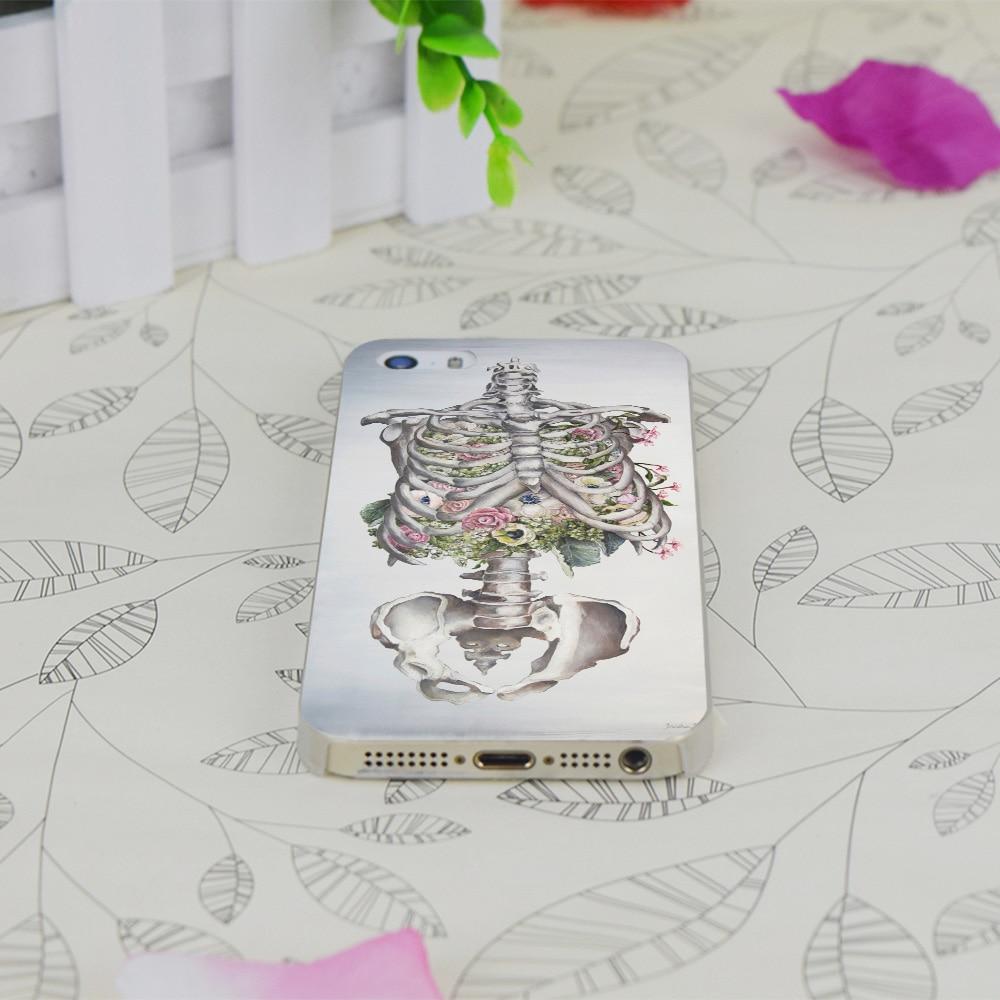 C3794 Floraux Anatomie Squelette Transparent Cas Dur Mince ...