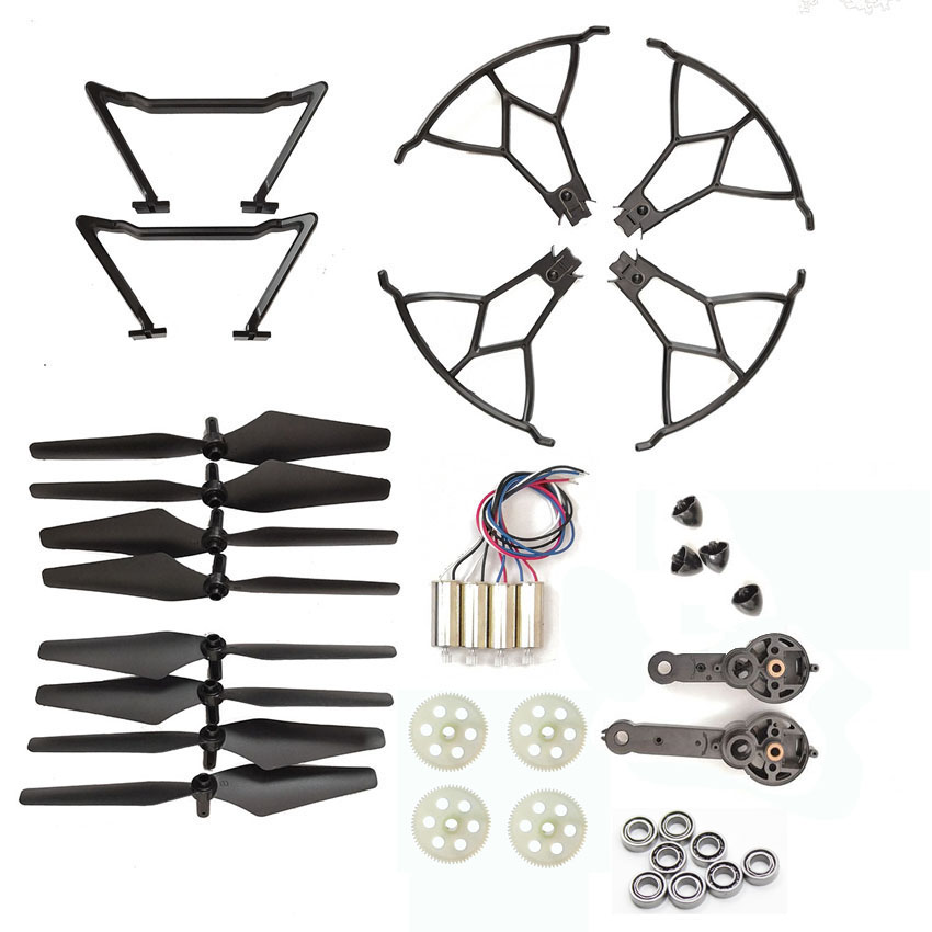 Foldable Selfie KY601S RC Drone Spare Parts Blades Motor Engines KY601S Propellers Gears Landing Skid Guards Part