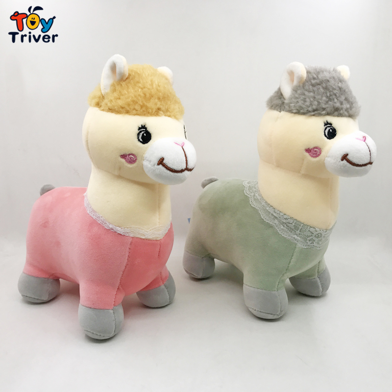 Alpaca Sheep Plush Toy Triver Stuffed Doll Baby Kids Girl Children Birthday Gift Appease Dolls Home Decor Drop Shipping in Stuffed Plush Animals from Toys Hobbies