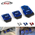 RASTP-Auto Auto Aluminium Legierung Manuelle Übertragung Nicht-slip Fahrzeug Accelerator Bremspedal Abdeckung Pad 3 teile/satz RS-ENL018