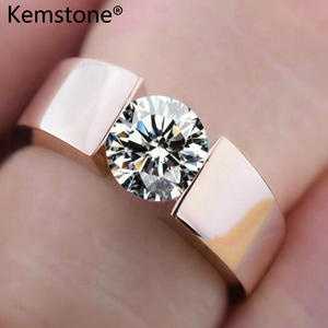 Kemstone Rose Color Zircon Ring Size 13 Women Jewelry Gift