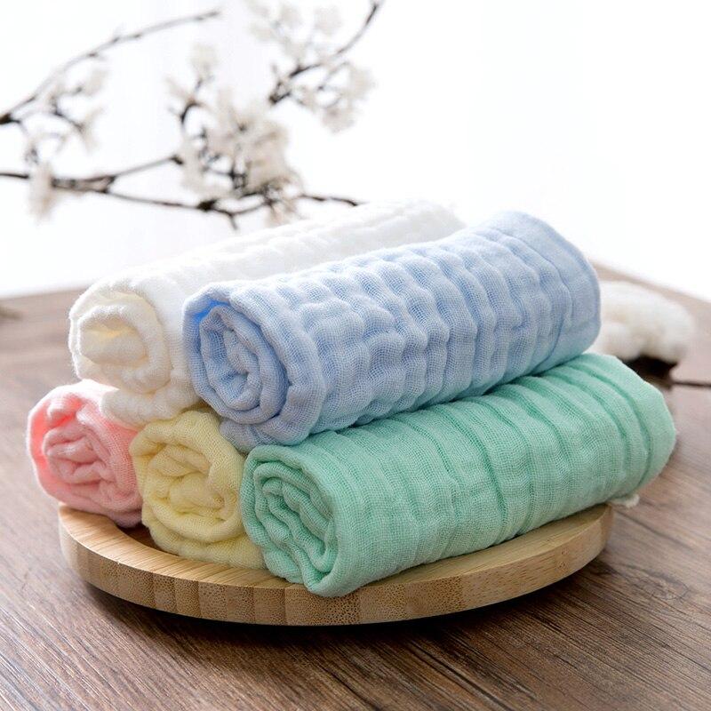 5 Pcs/lot 25*25 cmbébé visage serviette microfibre absorbant séchage bain plage serviette de toilette maillots de bain bébé serviette coton enfants serviette (lot de 5)