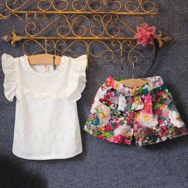 410782a2e8ca Aliexpress.com   Buy Baby Girls Clothes Set Children Short Sleeve T ...