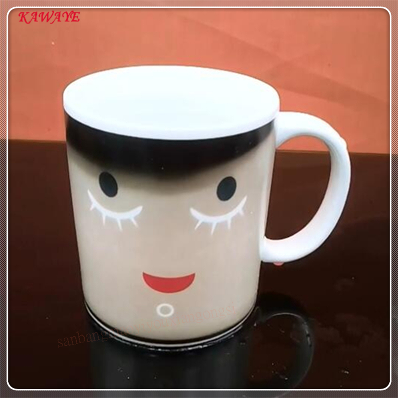 1pcs 350ml New Arrive Smile Temperature Sensing Color Changing Mug Novelty Gifts Magic Cup Coffee Mug Milk Tea Cup 9ZDZ341