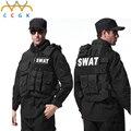 Colete À Prova de Balas de Paintball Jogo Tático militar engrenagem Molle Preto colete cs Colete swat Polícia policiais tatico