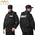 Military Tactical gear vest Paintball Game Bulletproof Molle Black vest cs Vest swat Police law enforcement colete tatico