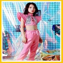 New girls jazz dance costumes models catwalk fashion tide hip hop street suit performance clothing