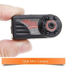 QQ6 micro camera Full HD1080P hidden DVR Camera Camcorder wide angle IR Night Vision mini camara espia+memory card