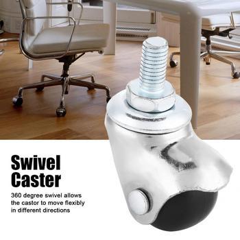 4 pces 1 polegada de borracha pp rodas escritório cadeiras rodízio giratório rosqueado roda rodízio substituição para rodas rodízio móveis trole