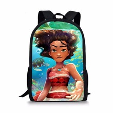 48dd0264449 Moana Princess print Backpacks School bags kids schoolbag 1 grade satchel  for Boys girls students mochila. 15 Colors Available