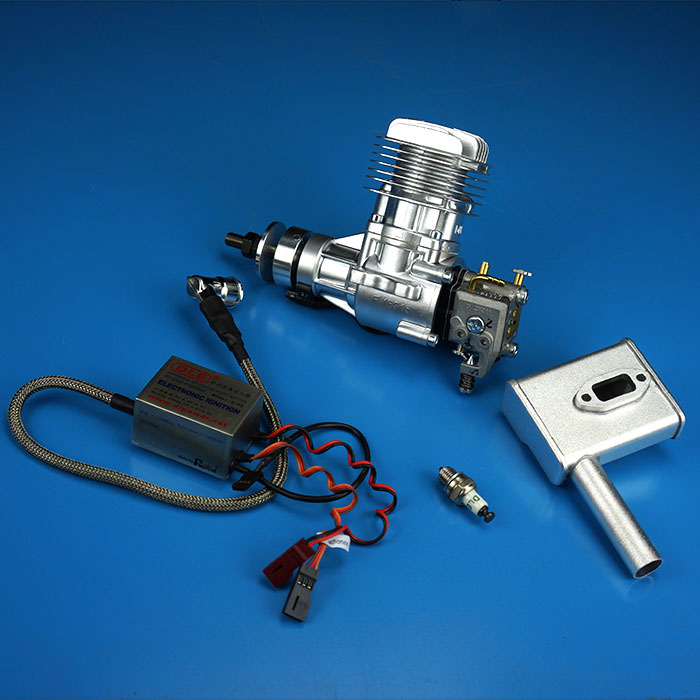 <font><b>DLE20</b></font> 20CC GAS <font><b>Engine</b></font> For RC Airplane Model Single Stroke Single side exhaust Natural Air Cooling Hand Start image