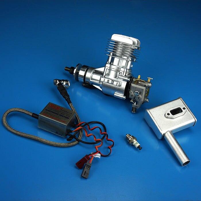DLE20 20cc газа Двигатели для автомобиля для модели самолета RC один ход на одной стороне Выпускной природного Air cooling стороны начать