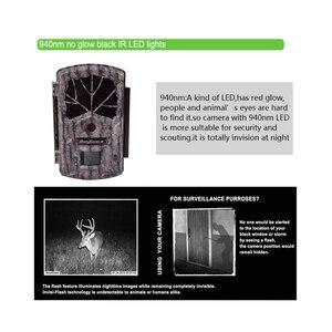 Image 4 - Bolyguard охотничья пробная камера 24 МП фотоловушка 100 футов камера для дикой природы 940 нм ночное видение черная ИК фотоловушка камера